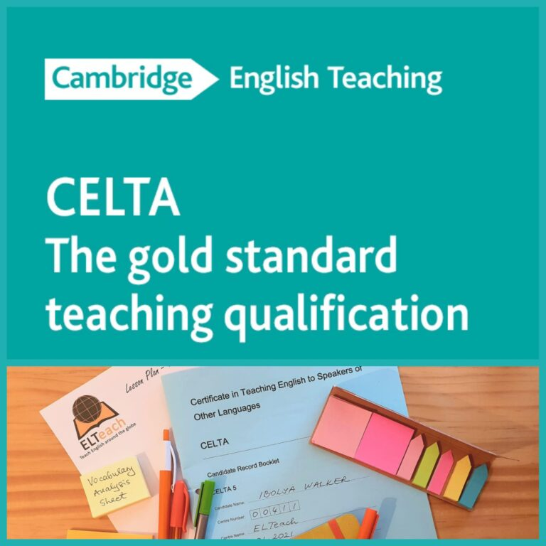CELTA (Certificate in English Language Teaching to Speakers of Other Languages)